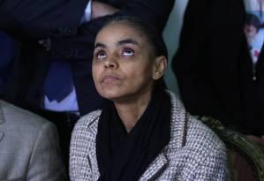 Marina Silva: influência na web pode não ser considerada tão preponderante na escolha de seu nome Foto: Michel Filho / Agência O Globo