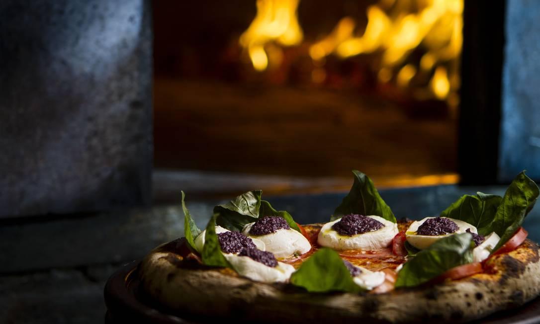 Pizza Caprese da Bráz Foto: / Fernando Lemos