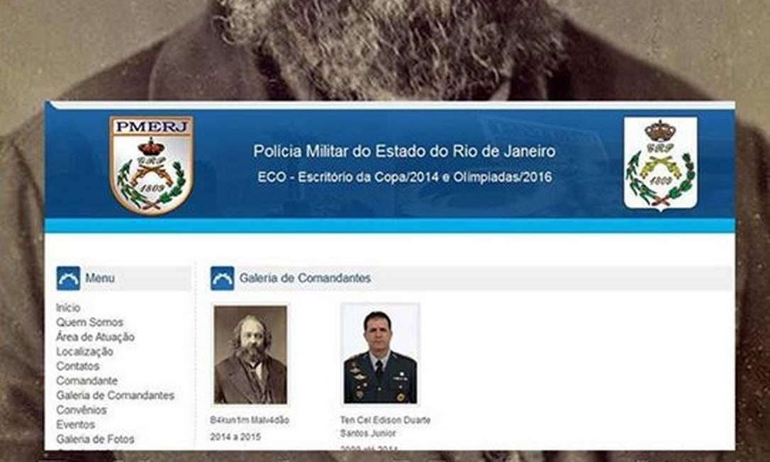 Hackers invadem site da Polícia Militar do Rio e usam imagem de filósofo russo
