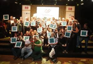 Os premiados no Rio Show de Gastronomia, no Jockey Club Foto: Marcelo Carnaval/O Globo