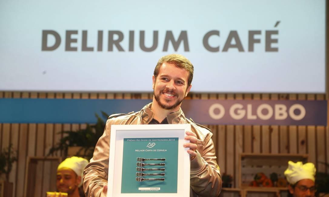 O Delirium Café levou o prêmio melhor carta de cervejas Foto: Marcelo Carnaval/O Globo