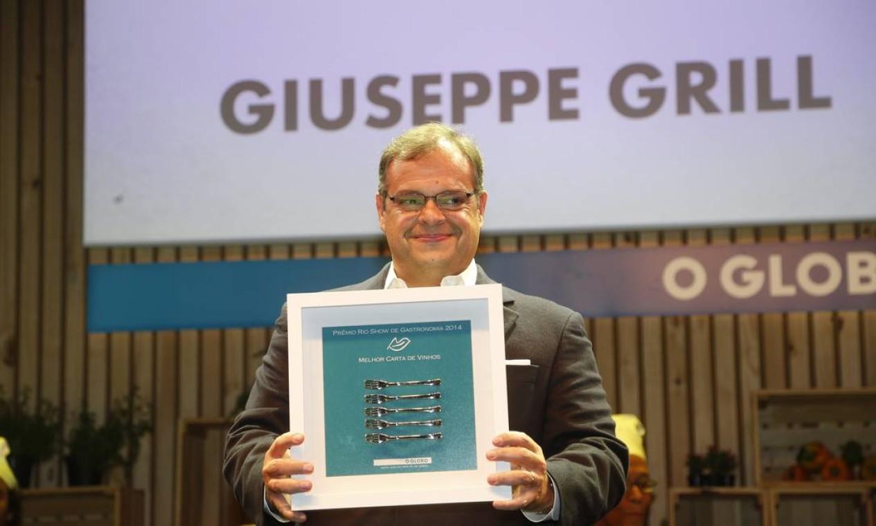 A melhor carta de vinhos ficou para o Giuseppe Gril Foto: Marcelo Carnaval / Agência O Globo