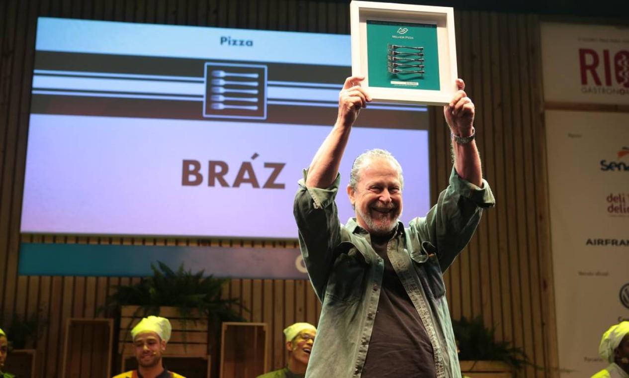 O prêmio de melhor pizza ficou com a Bráz Foto: Cecília Acioli/ O Globo