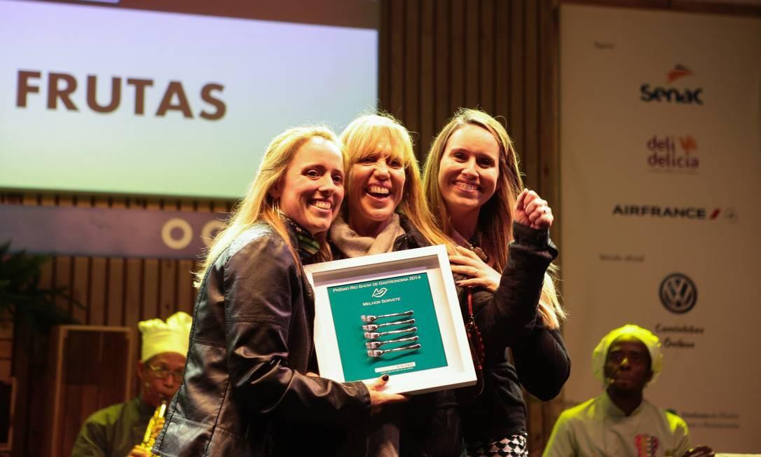 O prêmio de melhor sorvete ficou com o Mil frutas Foto: Cecília Acioli/O Globo