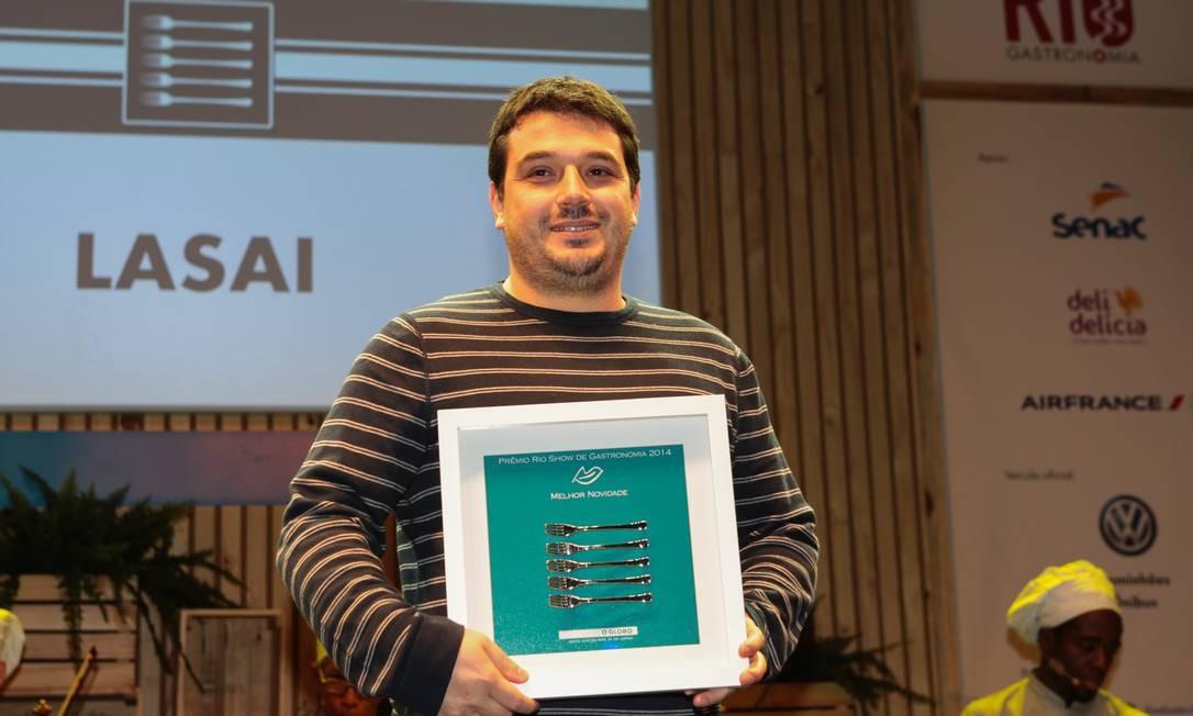 O prêmio de melhor novidade ficou com o Lasai, do chef Rafa Costa e Silva Foto: Cecília Acioli/O Globo