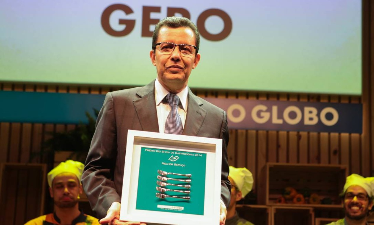Rogerio Fasano, do Gero, recebeu o prêmio de melhor serviço Foto: Cecilia Acioli/O Globo