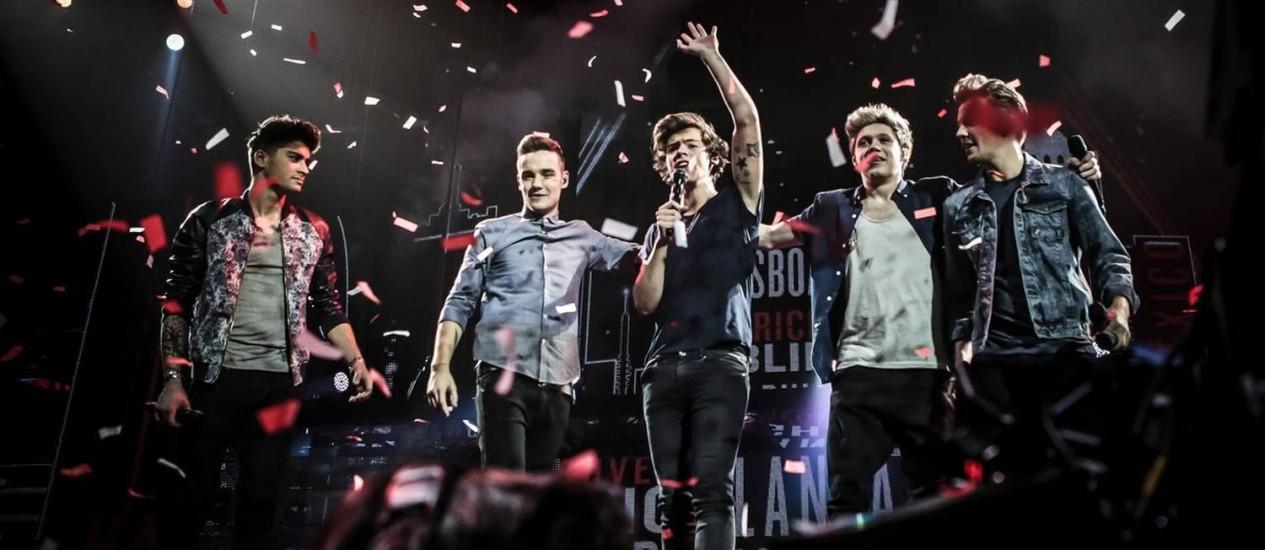 Cena do filme 'One Direction: this is us' Foto: Divulgação / Agêªncia O Globo