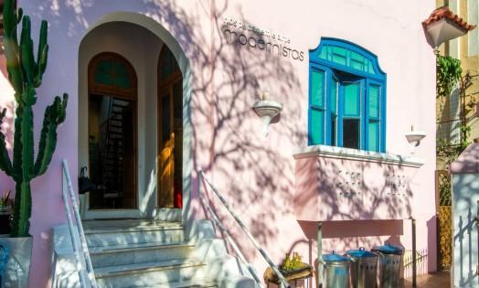 Fachada original da casa de 1925 transformada em pousada em Santa Teresa Foto: Divulgação