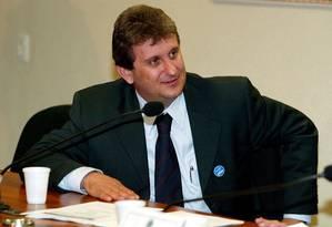 O doleiro Alberto Youssef, durante depoimento reservado na CPI dos Correios, no Senado Foto: Sérgio Lima