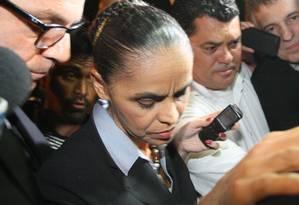 Marina receberá documento do PSB com arranjos feitos por Campos Foto: André Coelho / O Globo