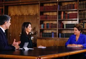 'Jornal Nacional' entrevista a presidente Dilma Rousseff Foto: Divulgação