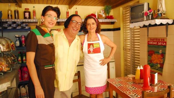 Dona Abigail, Beiçola e Nenê: vizinhança antiga na série 'A Grande Família' Foto: João Miguel Júnior