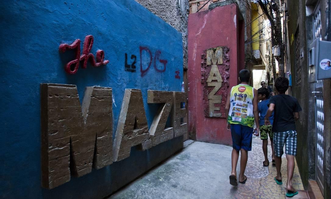 Com entrada estreita na favela Tavares Bastos, o The Maze é uma das casas de jazz mais badaladas da cidade. Foto: Guilherme Leporace / Agência O Globo
