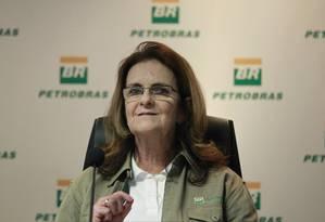 Graça Foster doou imóveis a parentes após estouro de escândalo sobre compra de Pasadena Foto: Domingos Peixoto / Agência O Globo