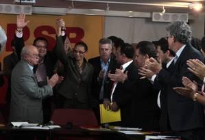 PSB oficializa a chapa com Marina Silva à Presidência e Beto Albuquerque a vice Foto: Givaldo Barbosa / O Globo