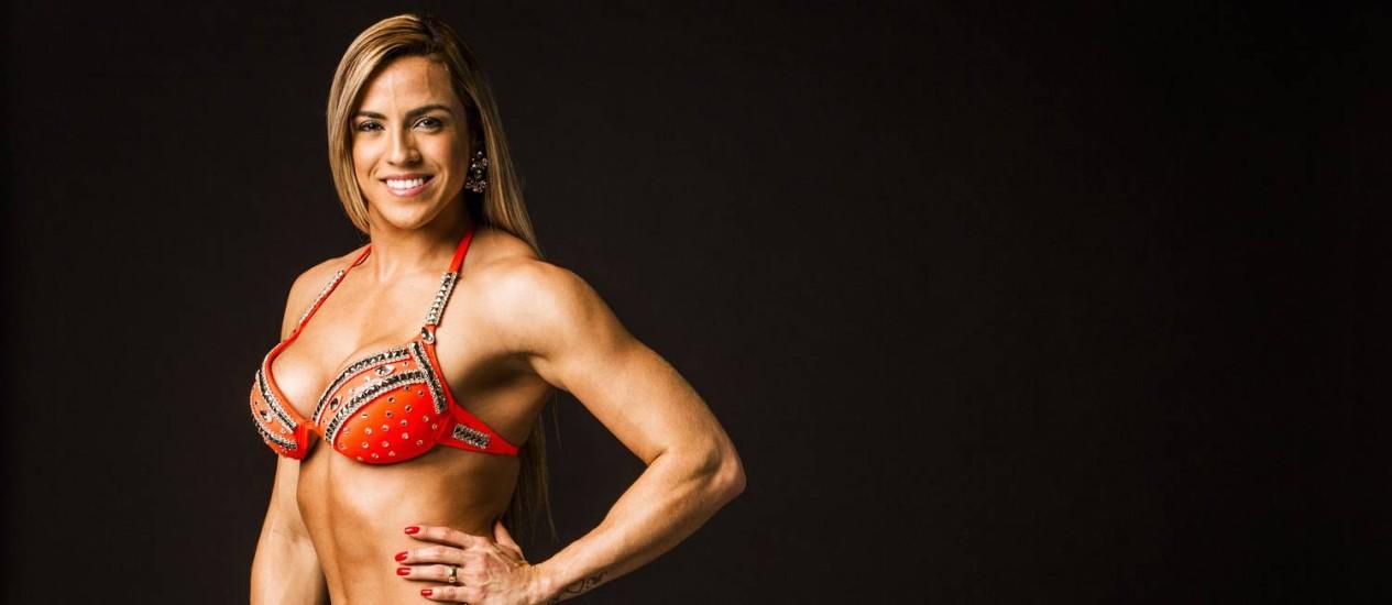 A enfermeira Kirley Suenia, fisiculturista da categoria Wellness, que é exclusiva no Brasil Foto: Fabio Seixo