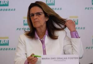 Graça Foster: liderança do DEM defende sua saída imediata da presiência da Petrobras Foto: Pedro Kirilos / O Globo (26/02/2014)