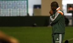 O técnico Cristóvão Borges, do Fluminense, na derrota para a Chapecoense Foto: Nelson Perez / Fluminense