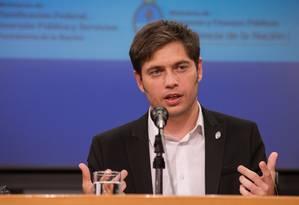 O ministro da Economia, Axel Kicillof Foto: Mariano Sanda / AFP