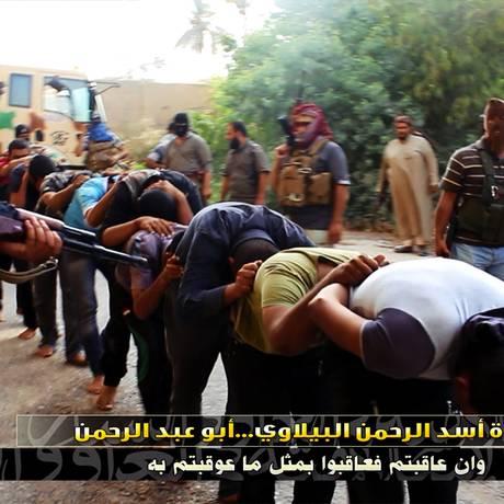 Jihadistas usam site JustPaste.it para divulgar imagens de execuções, decapitações, massacres e demonstrações de força Foto: Reprodução/JustPaste.it