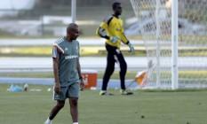 O tecnico Cristóvão Borges no treino do Fluminense na Urca Foto: Cezar Loureiro / Agência O Globo