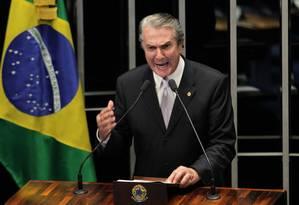 Senador Fernando Collor Foto: Ailton de Freitas / O Globo