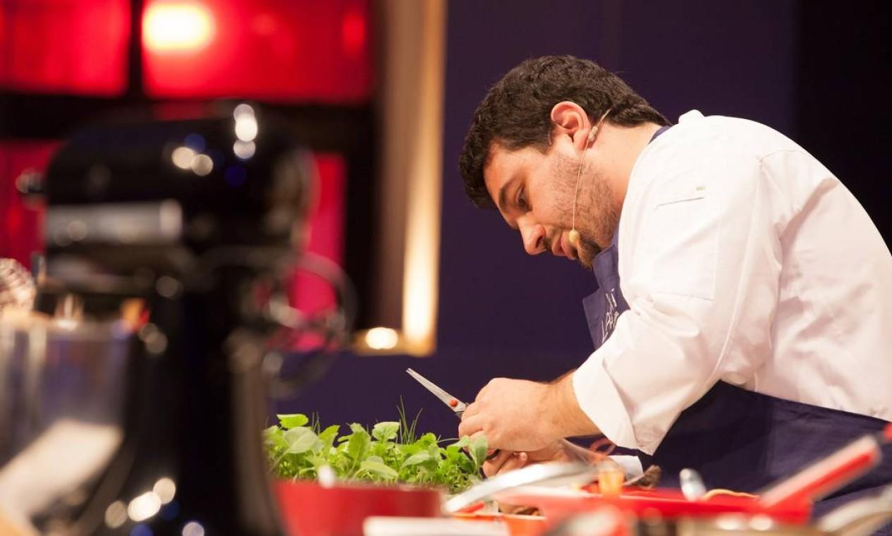 A 'Cozinha Criativa' do chef Rafa Costa e Silva, do Lasai, vencedor do Prêmio Rio Show de Gastronomia, na categoria novidade Foto: Bianca Pimenta/O Globo