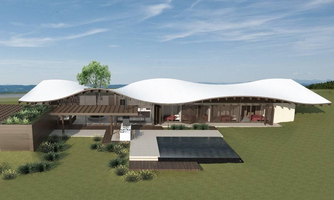 Casa 88°, projetada para ter o máximo de sustentabilidade possível, vai ser apresentada na Expo Arquitetura Sustentável, em São Paulo Foto: Divulgação