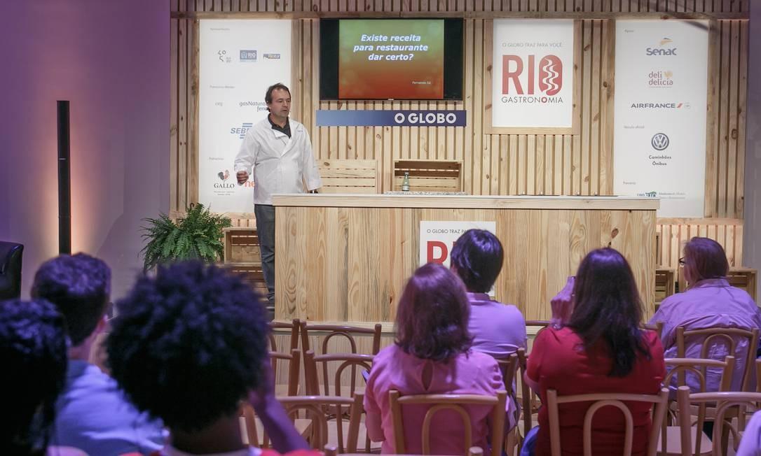 Fernando Sá, do Grupo Troisgros, falou sobre as dificuldades na gestão de restaurante Foto: Marco Sobral/ O Globo
