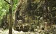 Os restos de uma antiga cidade maia em Lagunita