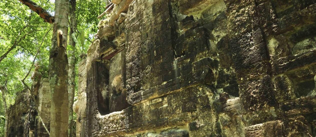 Os restos de uma antiga cidade maia em Lagunita Foto: HANDOUT / REUTERS