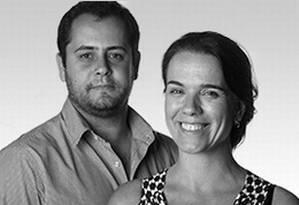 Fábio Vasconcellos e Gabriela Allegro Foto: O Globo