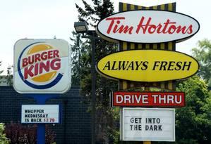 Burger King e Tim Hortons: fusão gera debate sobre tentativa de pagar menos impostos Foto: AP/The Canadian Press/Sean Kilpatrick