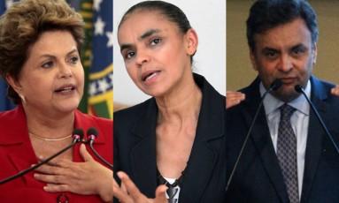 Principais candidatos à Presidência da República Foto: O Globo