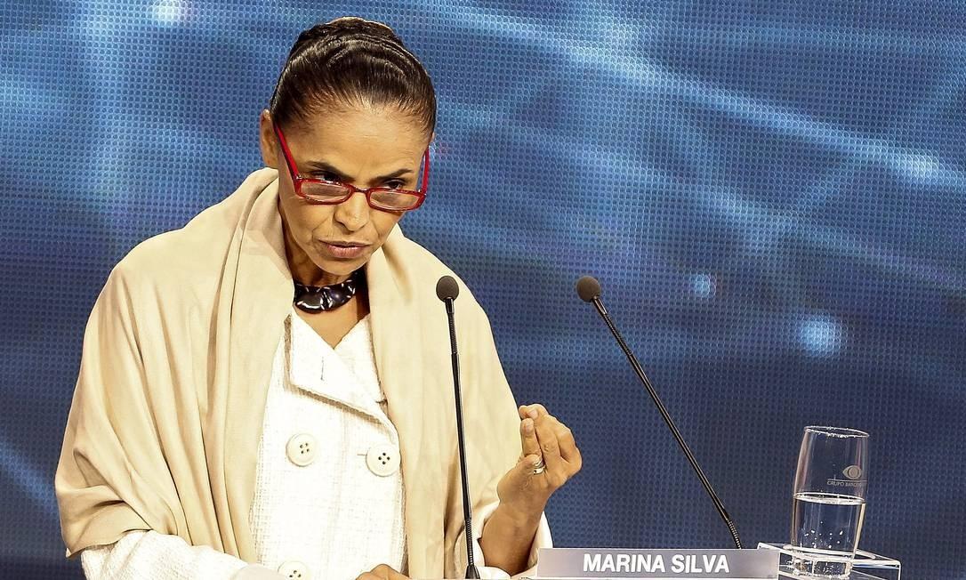 Marina Silva no debate Foto: Miguel Schincariol/AFP / AFP