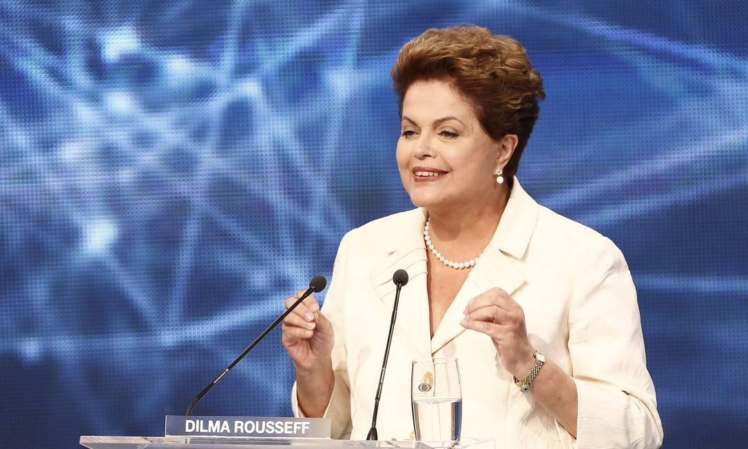 Dilma Rousseff no debate Foto: Miguel Schincariol/AFP / AFP