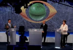 Primeiro debate entre os candidatos à Presidencia da República Foto: Fernando Donasci / Agência O Globo