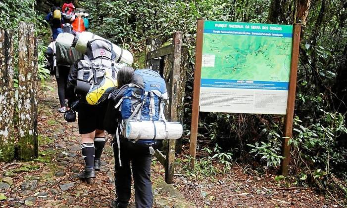 Importância. O Parnaso é considerado o parque com a maior rede de trilhas do Brasil (130 quilômetros). Acima, imagens antigas do parque, em exposição Foto: Felipe Hanower / Felipe Hanower