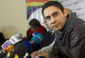 Mauricio Ruiz em coletiva para a imprensa em Santiago Foto: Claudio Reyes / AFP