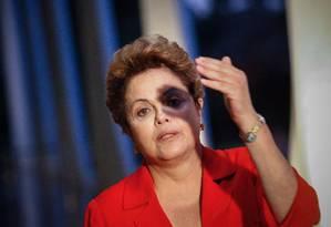 A presidente Dilma Rousseff durante entrevista no Palácio do Planalto Foto: André Coelho