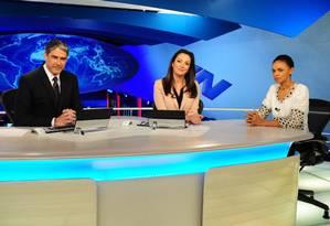 Marina Silva participa de entrevista no Jornal Nacional Foto: João Cotta/ TV Globo