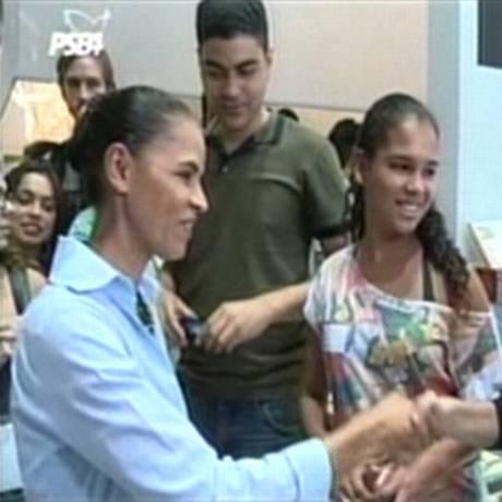 Programa de TV de Marina Silva Foto: Reprodução