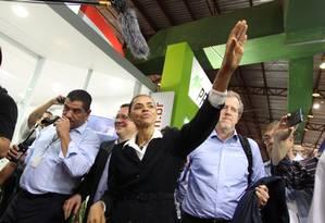 Na quinta-feira, Marina falou para usineiros na Feira Internacional de Tecnologia Sucroenergética (Fenasucro) Foto: Marcos Alves / O Globo
