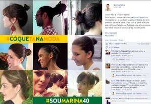 Imagem da campanha #CoqueTaNaModa publicada no Facebook de Marina Foto: Reprodução