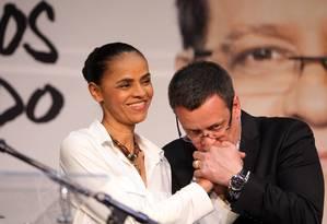 Programa de Marina: pré-sal em segundo plano, rigor contra homofobia, fim da reeleição e mandato de 5 anos Foto: Fernando Donasci / Agência O Globo