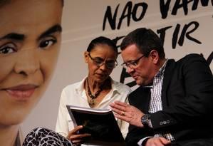 A candidata do PSB, Marina Silva, lançou na sexta-feira programa de governo com o vice Beto Albuquerque Foto: Fernando Donasci / Agência O Globo