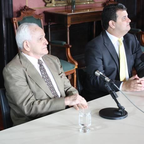 Nilton Cerqueira ao depor na Comissão Nacional da Verdade em julho de 2014 Foto: Comissão da Verdade/Divulgação / Comissão da Verdade/Divulgação
