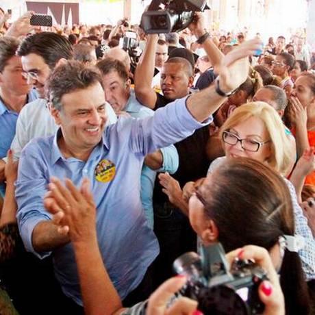 Cadidato do PSDB à presidência fez campanha no interior de São Paulo neste sábado Foto: Orlando Brito / Coligação Muda Brasil