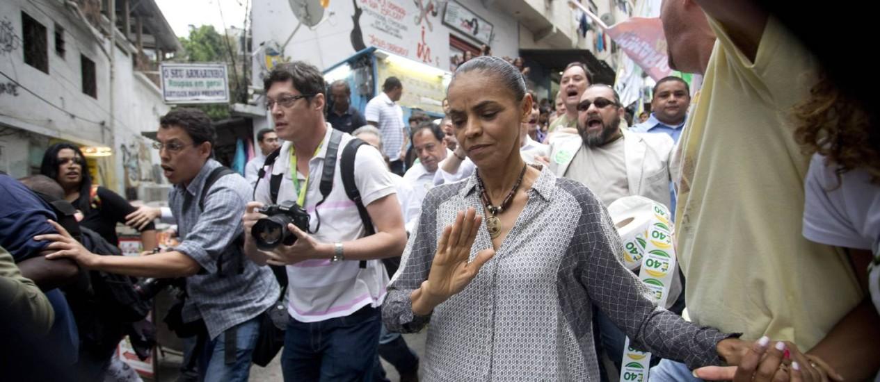 Campanha de Marina Silva retira de programa apoio a união homoafetiva Foto: Márcia Foletto / Agência O Globo