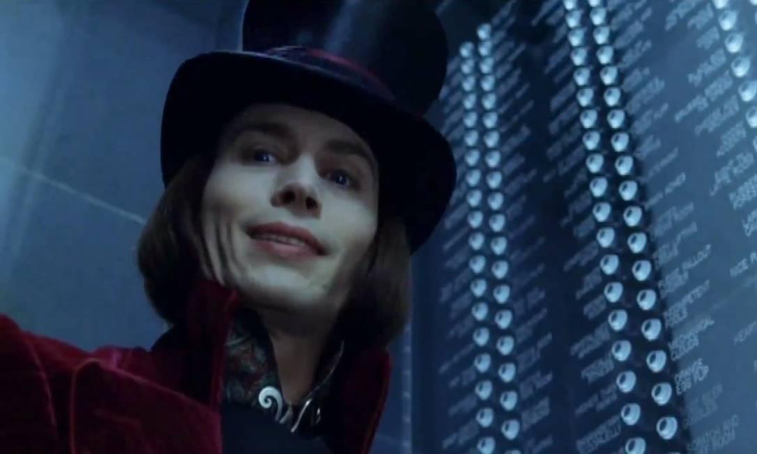 Johnny Depp na versão de 2005 de 'A fantástica fábrica de chocolate' Foto: Reprodução